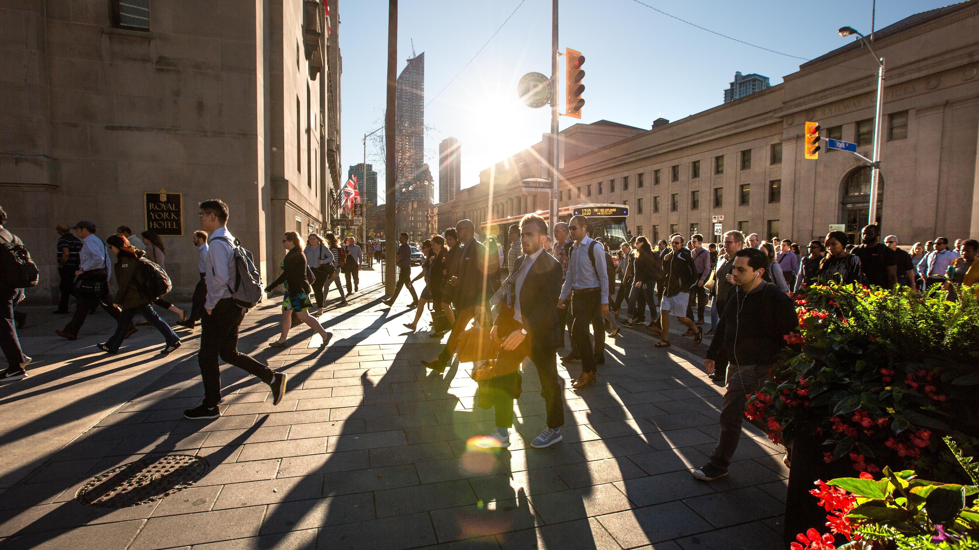 Commuters in Toronto