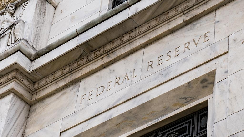 Entrance to the federal reserve building